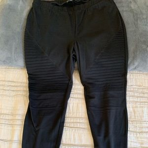 Forever 21 Black Moto leggings